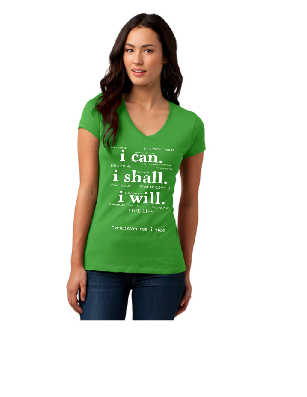 I Can, I Shall, I Will V-Neck Tee
