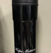 Travel Mug (Death Sucks/Hope Matters)-black