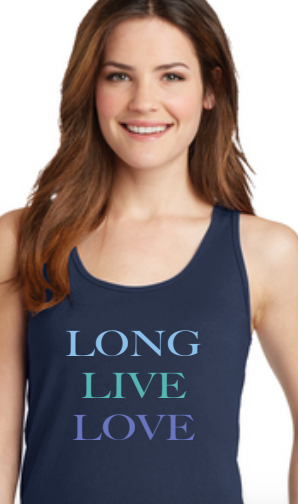 Long Live Love Multicolor blue tank (New for CWW19)