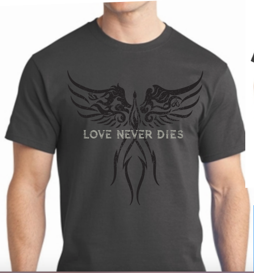 Love never dies Phoenix rising crew neck