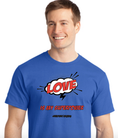 Widow Con Love Is My Superpower Crew Neck Tee