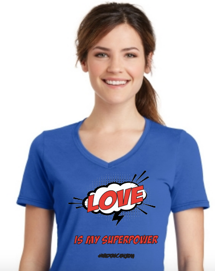 Widow Con Love Is My Superpower V-neck Tee