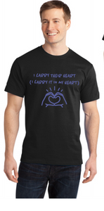 NEW Design! I Carry Their Heart Men's Crew neck Tee