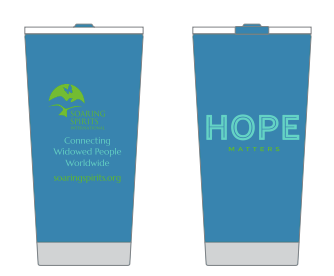 Hope Matters Blue Metal Tumbler