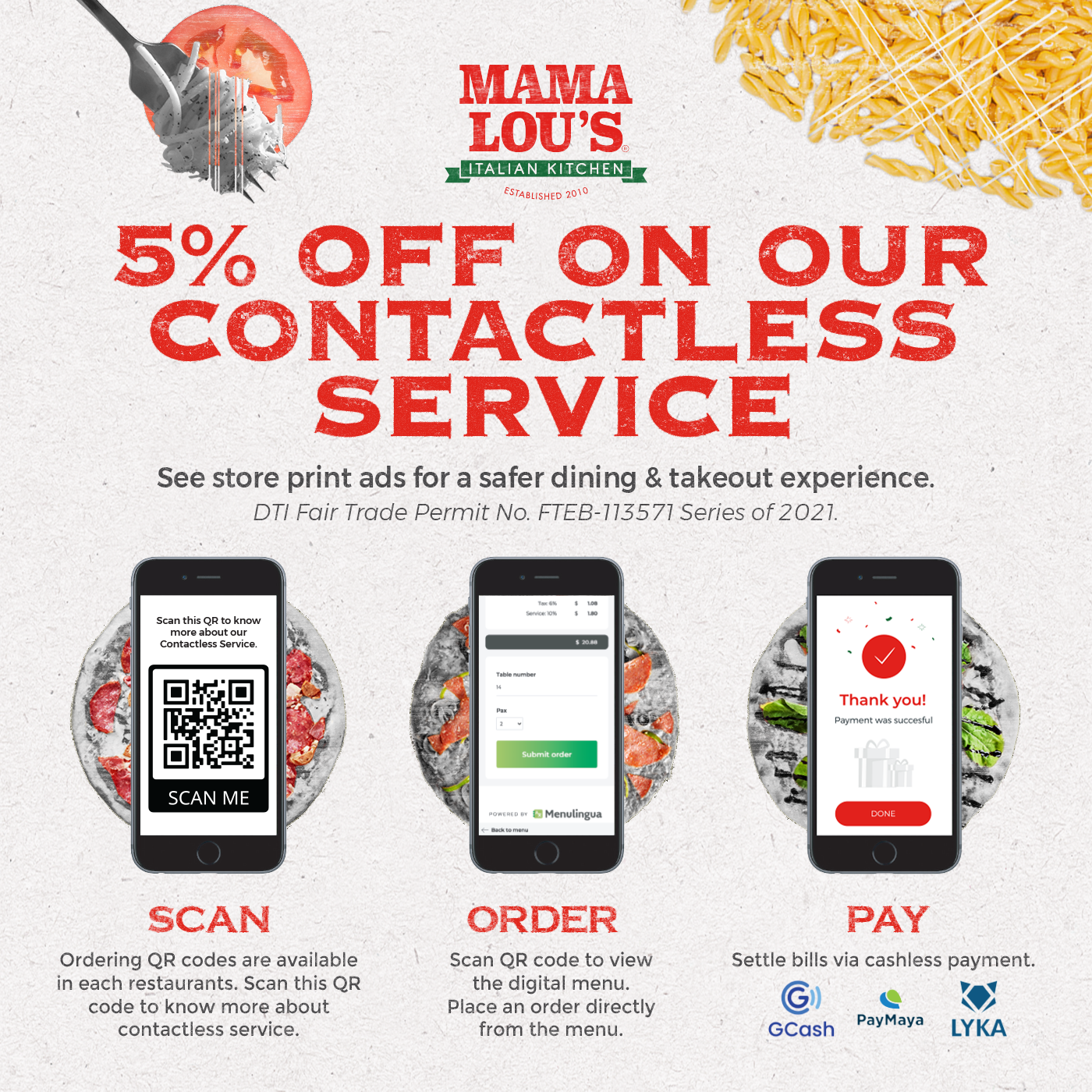 mama lou's contactless service