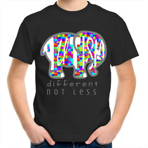 Kids Shirt - Autism Elephant  - Sensory Monkey Autism ASD Aspergers Sensory Needs, ADHD Attention Deficit Disorder Spectrum Children
