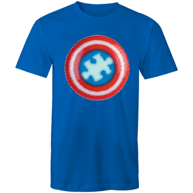 Men's Shirt - Hero Shield  - Sensory Monkey Autism ASD Aspergers Sensory Needs, ADHD Attention Deficit Disorder Spectrum Children