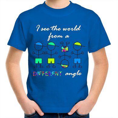 Kids Shirt - Different Angle Boy  - Sensory Monkey Autism ASD Aspergers Sensory Needs, ADHD Attention Deficit Disorder Spectrum Children