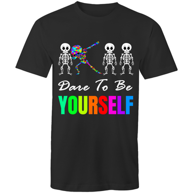 Youth Shirt - Dare To Be Yourself  - Sensory Monkey Autism ASD Aspergers Sensory Needs, ADHD Attention Deficit Disorder Spectrum Children