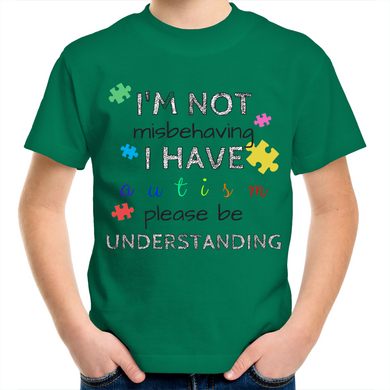 Kids Shirt - I'm Not Misbehaving  - Sensory Monkey Autism ASD Aspergers Sensory Needs, ADHD Attention Deficit Disorder Spectrum Children