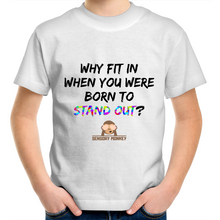 Kids Shirt - Why Fit In?  - Sensory Monkey Autism ASD Aspergers Sensory Needs, ADHD Attention Deficit Disorder Spectrum Children