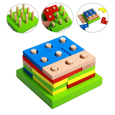 3D Timber Tetric Puzzle wooden - Sensory Monkey Autism ASD Aspergers Sensory Needs, ADHD Attention Deficit Disorder Spectrum Children