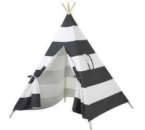 Calm Corner Teepee - Black Stripes tents - Sensory Monkey Autism ASD Aspergers Sensory Needs, ADHD Attention Deficit Disorder Spectrum Children