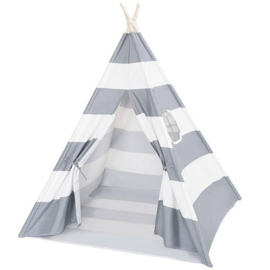 Calm Corner Teepee - Grey Stripes tents - Sensory Monkey Autism ASD Aspergers Sensory Needs, ADHD Attention Deficit Disorder Spectrum Children