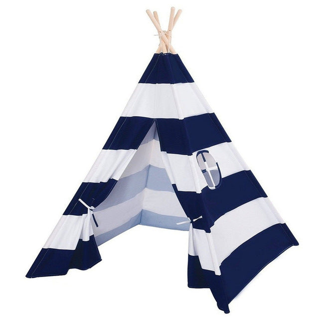Calm Corner Teepee - Navy Stripes tents - Sensory Monkey Autism ASD Aspergers Sensory Needs, ADHD Attention Deficit Disorder Spectrum Children