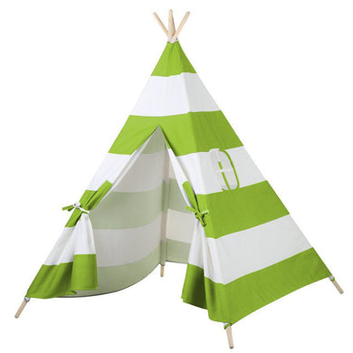 Calm Corner Teepee - Green Stripes tents - Sensory Monkey Autism ASD Aspergers Sensory Needs, ADHD Attention Deficit Disorder Spectrum Children