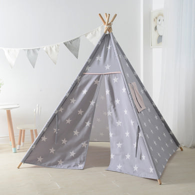 Calm Corner Teepee - Grey with White Stars tents - Sensory Monkey Autism ASD Aspergers Sensory Needs, ADHD Attention Deficit Disorder Spectrum Children