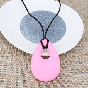 Chew Necklace - Rose Pink Oval oral motor - Sensory Monkey Autism ASD Aspergers Sensory Needs, ADHD Attention Deficit Disorder Spectrum Children