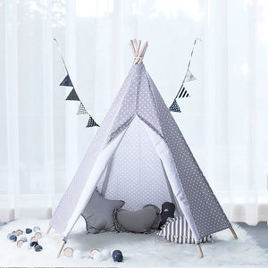 Calm Corner Teepee - Grey Polka Dots tents - Sensory Monkey Autism ASD Aspergers Sensory Needs, ADHD Attention Deficit Disorder Spectrum Children