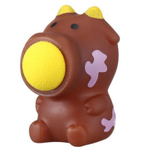 Small Ball Popper - Brown Cow anxiety ball - Sensory Monkey Autism ASD Aspergers Sensory Needs, ADHD Attention Deficit Disorder Spectrum Children