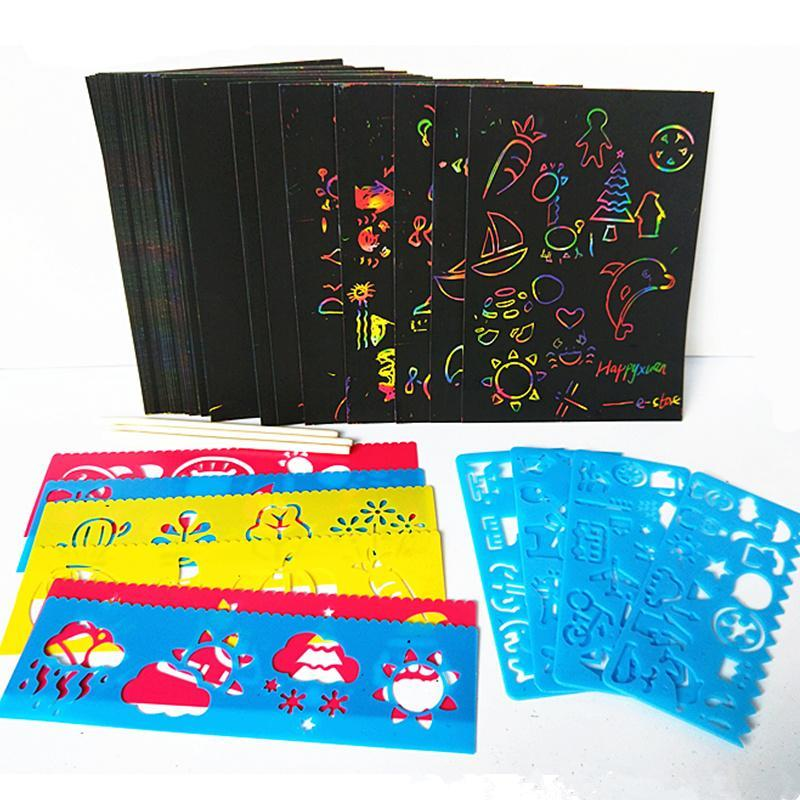 50 Pages of Scratch Paper with Stencil Colouring and Activity - Sensory Monkey Autism ASD Aspergers Sensory Needs, ADHD Attention Deficit Disorder Spectrum Children