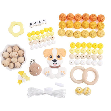 Customisable Chew Necklace (Large Kit) - Citrus oral motor - Sensory Monkey Autism ASD Aspergers Sensory Needs, ADHD Attention Deficit Disorder Spectrum Children