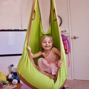 Double Hang Swing Hammock - Green swing - Sensory Monkey Autism ASD Aspergers Sensory Needs, ADHD Attention Deficit Disorder Spectrum Children