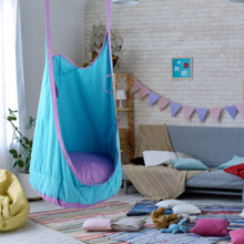 Double Hang Swing Hammock - Blue swing - Sensory Monkey Autism ASD Aspergers Sensory Needs, ADHD Attention Deficit Disorder Spectrum Children