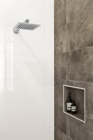 APSLEY WALL SHOWER ARM AND ROSE 300MM CHROME
