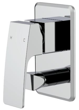 BELMORE WALL/BATH MIXER WITH DIVERTOR CHROME
