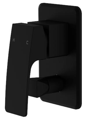 BELMORE WALL/BATH MIXER WITH DIVERTOR MATTE BLACK