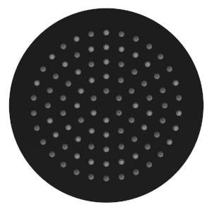 CARRINGTON SHOWER ROSE 200MM MATTE BLACK