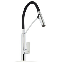 SARDINA BLACK FLEXI-HOSE SINK MIXER