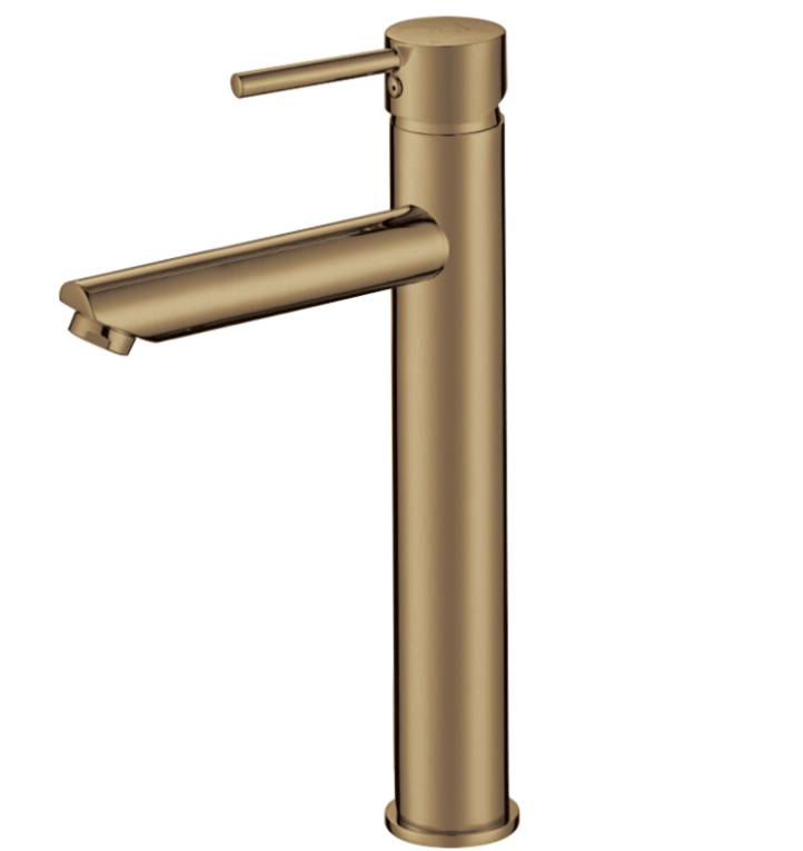 PENTRO HIGH BASIN MIXER BRUSHED YELLOW GOLD