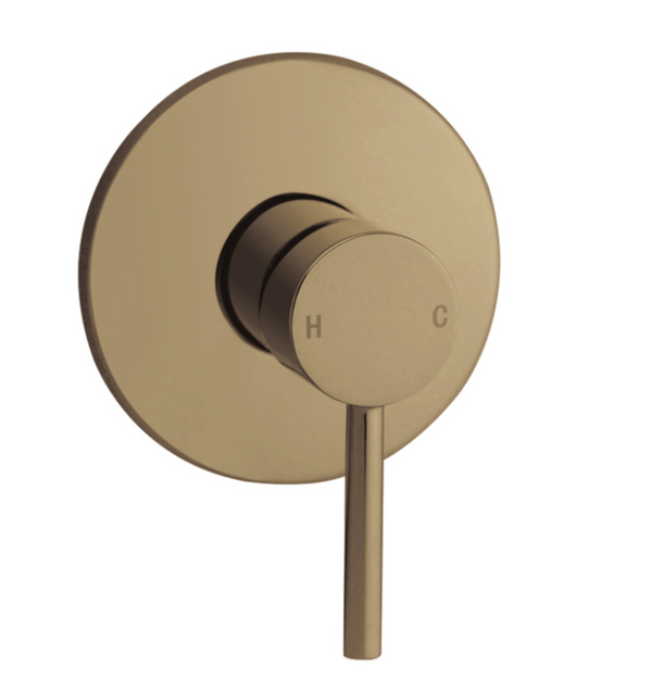 PENTRO SHOWER MIXER BRUSHED YELLOW GOLD