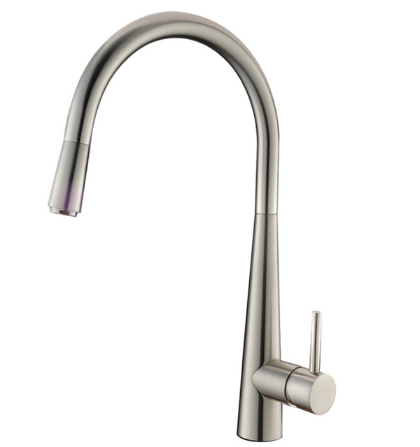 PENTRO PULL OUT KITCHEN MIXER BRUSHED NICKEL