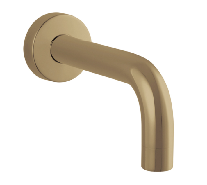 PENTRO ROUND BATH SPOUT BRUSHED YELLOW GOLD