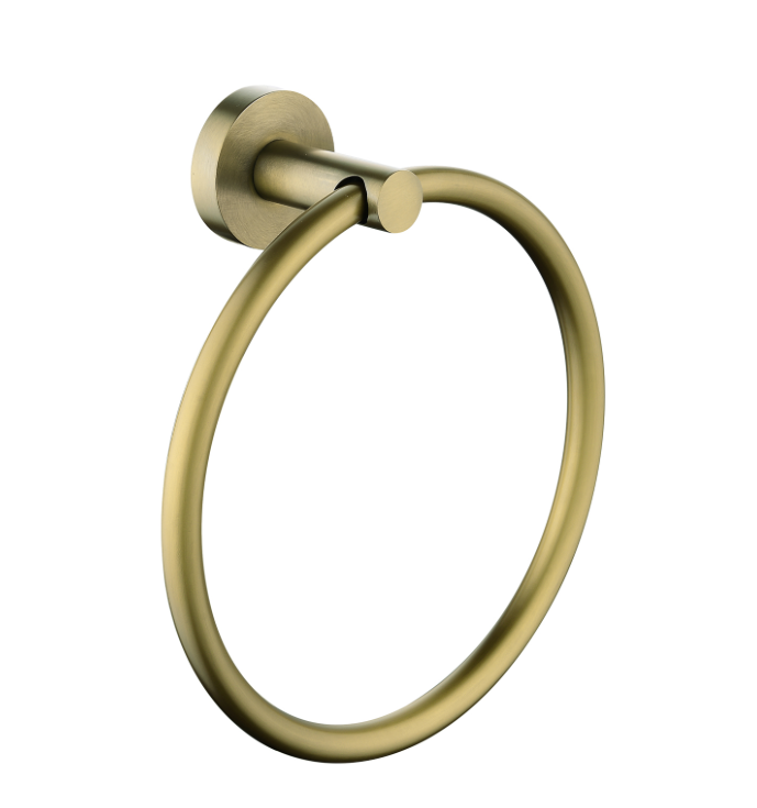 PENTRO TOWEL RING BRUSHED YELLOW GOLD