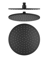 PENTRO 250mm SOLID BRASS ROUND RAINFALL SHOWER HEAD MATTE BLACK