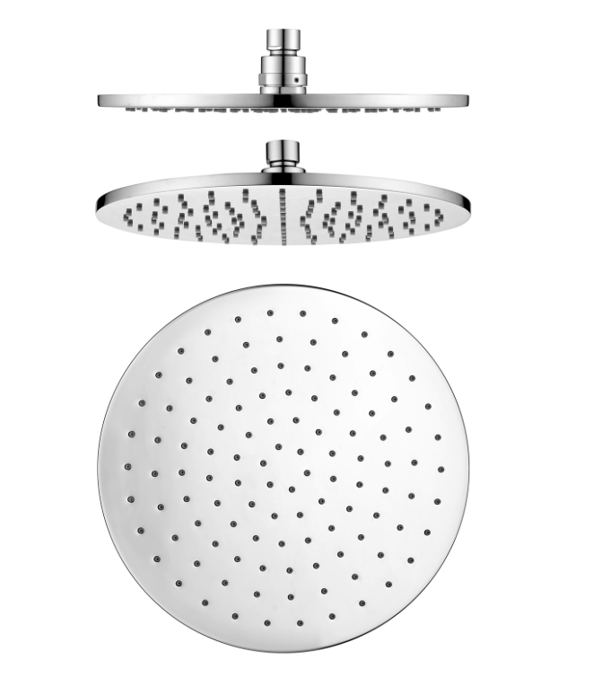 PENTRO 250mm SOLID BRASS ROUND RAINFALL SHOWER HEAD CHROME