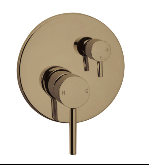 PENTRO SHOWER MIXER WITH DIVERTOR BRUSHED YELLOW GOLD