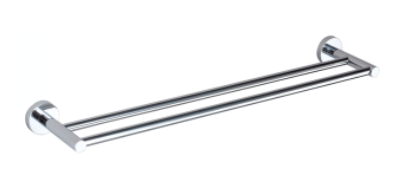 CARRINGTON 7500MM DOUBLE TOWEL RAIL CHROME
