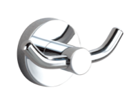 CARRINGTON DOUBLE ROBE HOOK CHROME