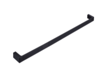 APSLEY 600MM SINGLE TOWEL RAIL MATTE BLACK