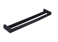 APSLEY 600MM DOUBLE TOWEL RAIL MATTE BLACK