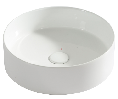 ROUND CERAMIC BASIN WHITE