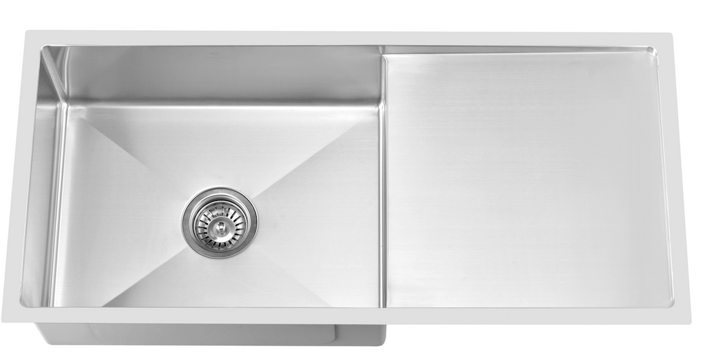 STAINLESS STEEL UNDERMOUNT SINK SINGLE BOWL WITH DRAINING BOARD (CLICK & COLLECT)