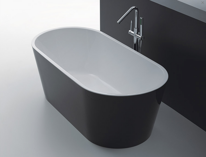 OSLO FREE STANDING BATH BLACK 1500 (CLICK & COLLECT ONLY)