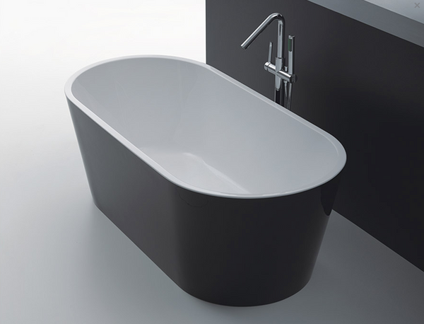 OSLO FREE STANDING BATH BLACK 1700 (CLICK & COLLECT ONLY)