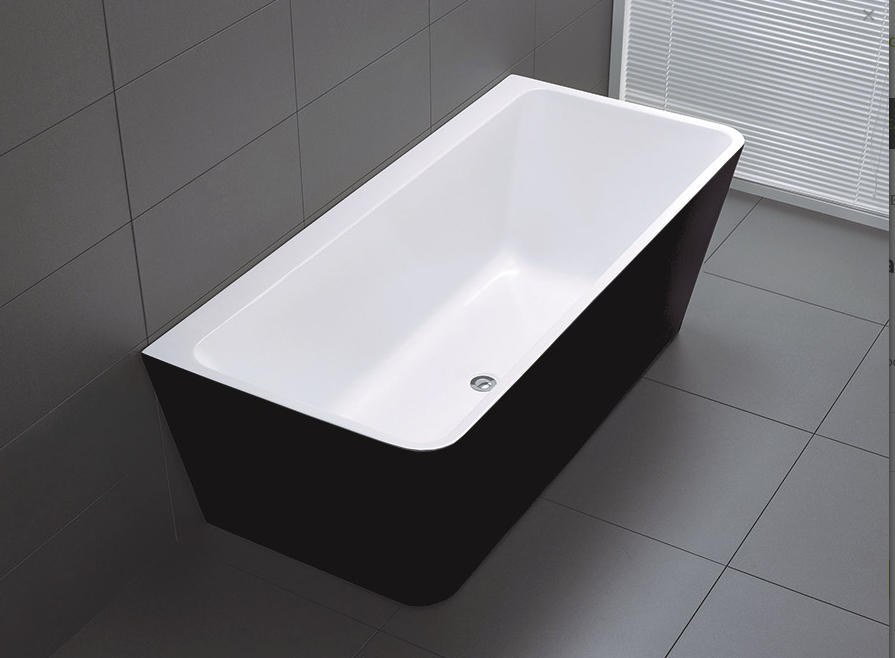 FLORENCE BACK TO WALL BATH BLACK 1700 (CLICK & COLLECT ONLY)